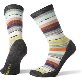 Smartwool Hike Light Margarita Crew Socks Women Charcoal